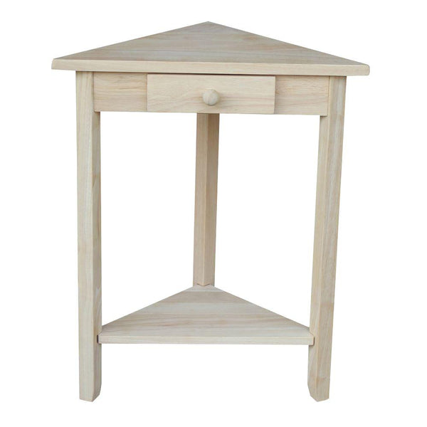 "Hardwood Corner Accent Table - 20"" - UnfinishedFurnitureExpo"