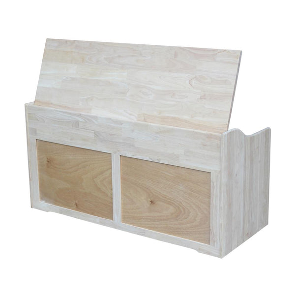 "Large Solid Hardwood Toy Box - 47"" Wide"