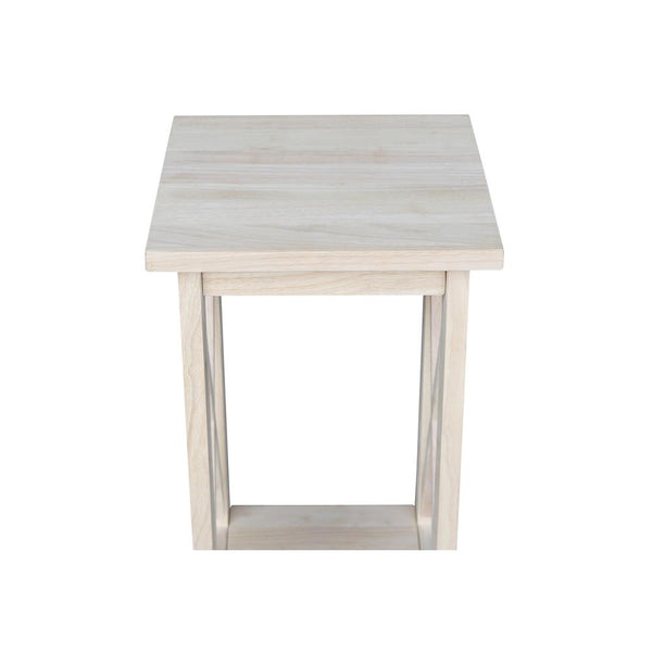 Hardwood X-Side Accent Table - 24""
