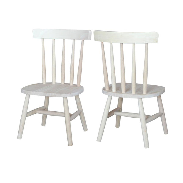 Hardwood Tot's Chair - 2 Pack - UnfinishedFurnitureExpo