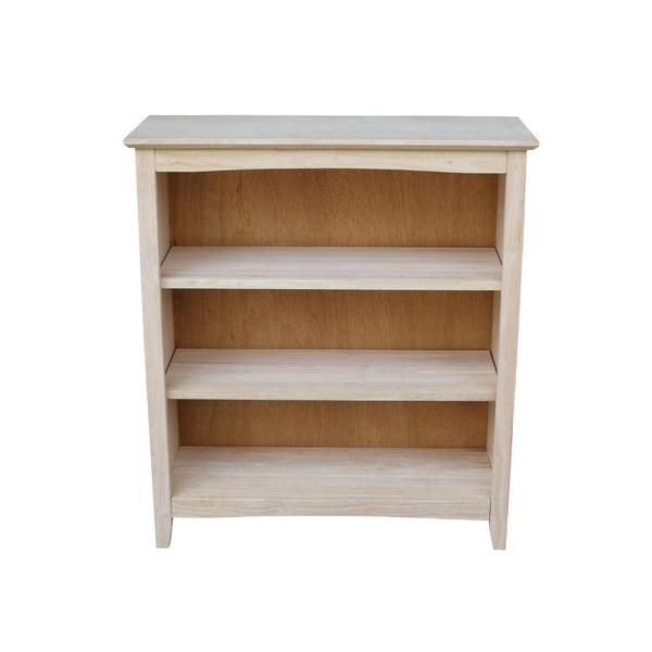 "Shaker Hardwood Bookcase - 38"" Wide x 36"" Tall"