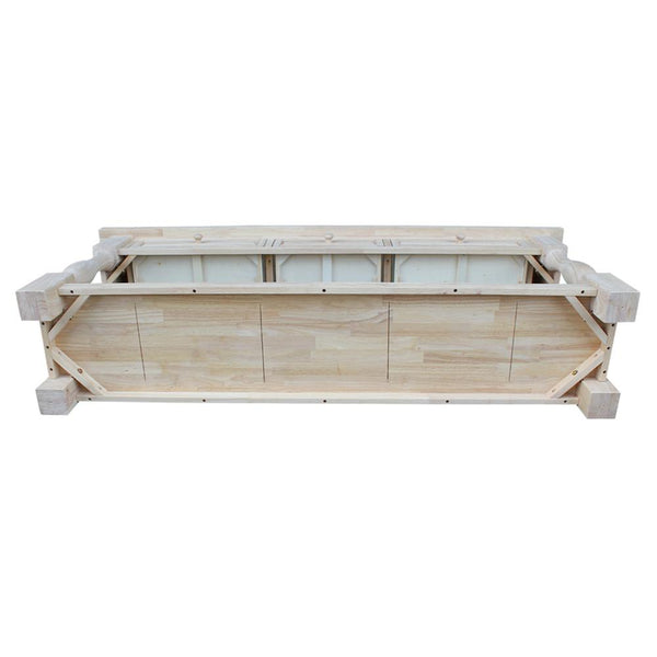 "Tuscan Unfinished Hardwood Sofa Table with Drawers - 70"" - UnfinishedFurnitureExpo"