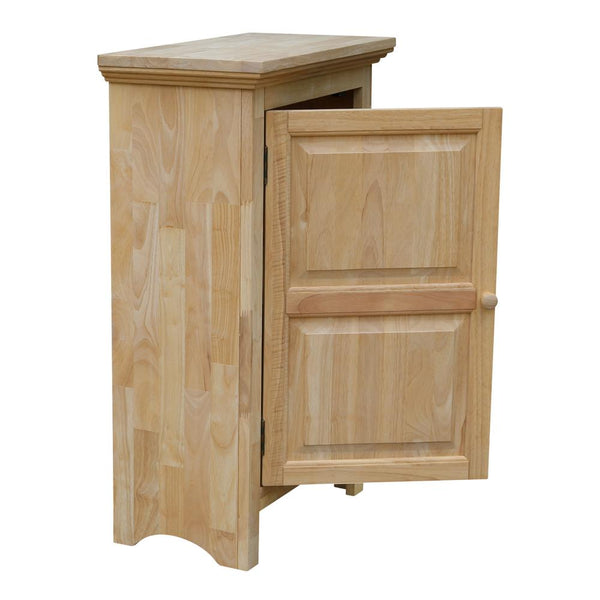 "Solid Hardwood Single Door Jelly Cabinet - 36"" Tall"