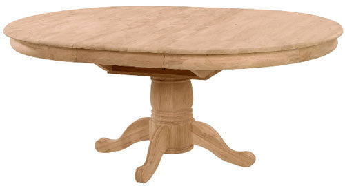 Unfinished Furniture Expo Hardwood Butterfly Leaf Pedestal Table