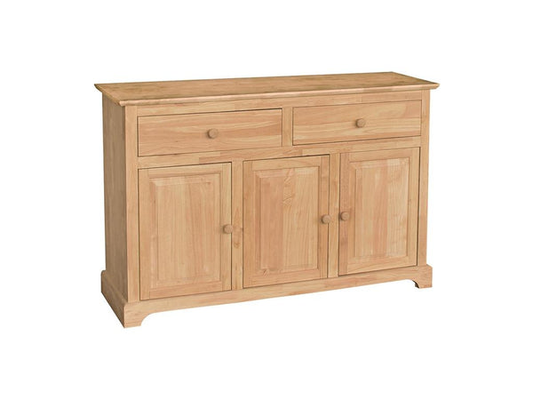 "3 Door Hardwood Buffet - 54"" - UnfinishedFurnitureExpo"