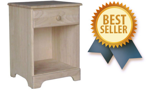 Jamestown Hardwood Nightstand - UnfinishedFurnitureExpo