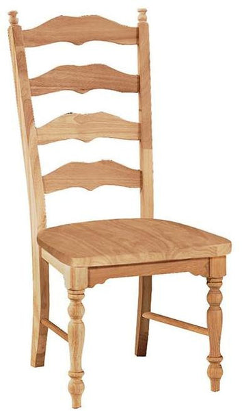 """Maine"" Unfinished Dining Chair with Wood Seat (2-Pack) - UnfinishedFurnitureExpo"