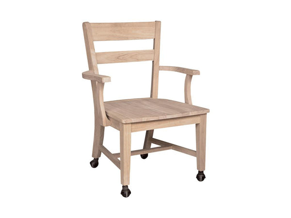 Hardwood Castor Dining Chair - UnfinishedFurnitureExpo