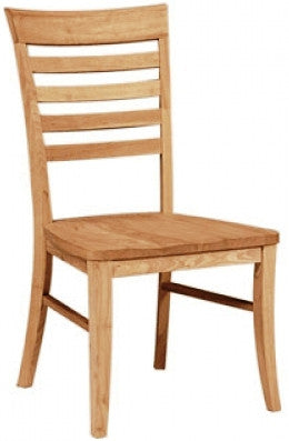 Unfinished Furniture Expo Roma Dining Chair With Wood Seat 2 Pack