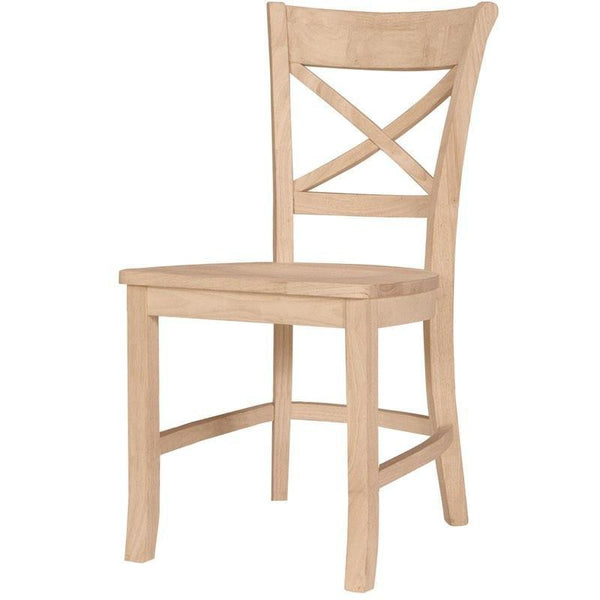 Charlotte X-Back Hardwood Chair - 2 Pack - UnfinishedFurnitureExpo