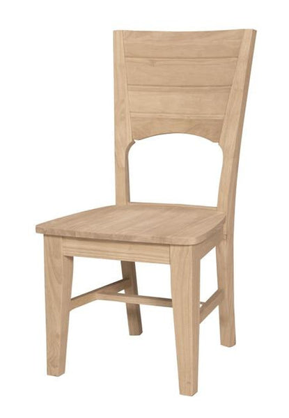 """Canyon"" Unfinished Hardwood Dining Chair (2-Pack) - UnfinishedFurnitureExpo"
