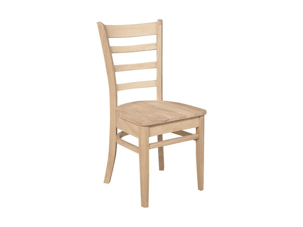 Emily Hardwood Chair - 2 Pack (Finish Options) - UnfinishedFurnitureExpo