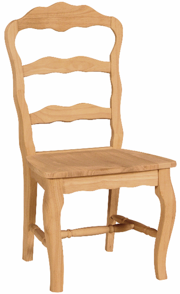 """Versailles"" Unfinished Hardwood Dining Chair (2-Pack) - UnfinishedFurnitureExpo"
