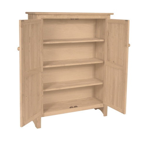 Unfinished Pine Kitchen Cabinets: Unfinished Solid Hardwood Double Jelly Cabinet
