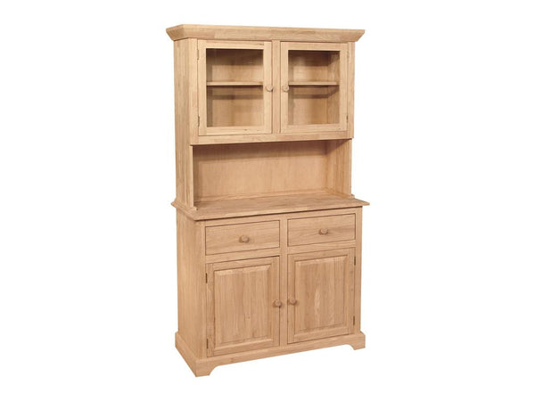 "2 Door Hardwood Hutch - 41"" - UnfinishedFurnitureExpo"