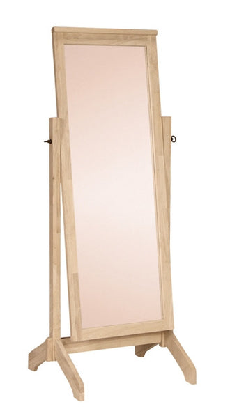 Free Standing Hardwood Mirror - UnfinishedFurnitureExpo