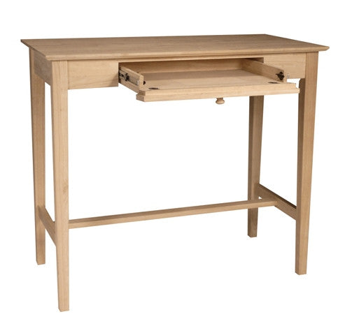 "Hardwood Standing Desk with Flip-Down Keyboard Tray - 48"" (Finish Options)"