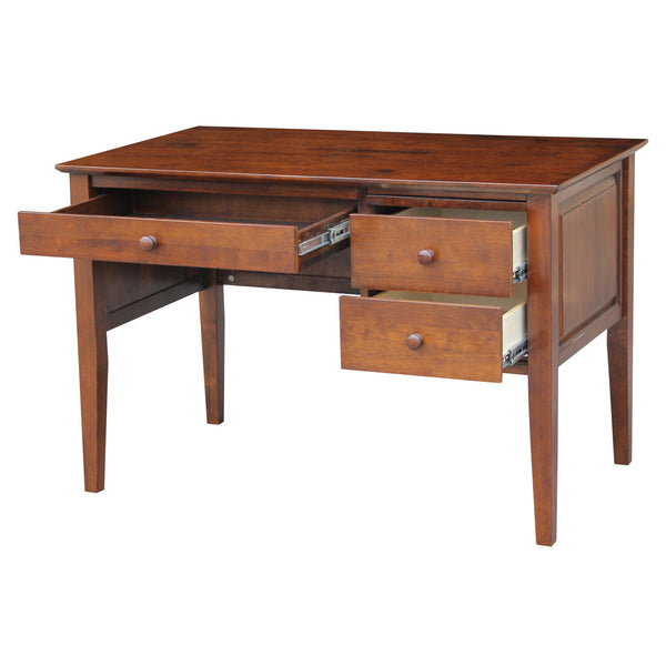 """Lancaster"" 2-Drawer Unfinished Hardwood Office Desk - UnfinishedFurnitureExpo"