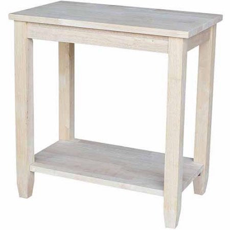 "Solano Hardwood Accent Table - 24"" - UnfinishedFurnitureExpo"