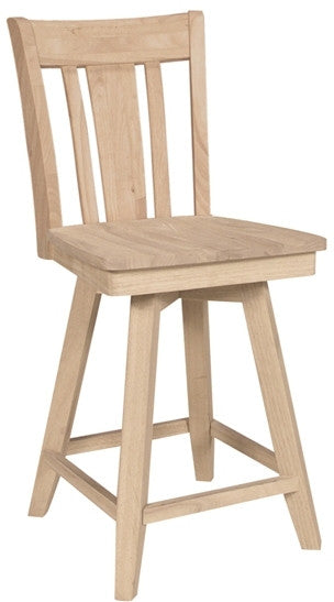 Unfinished Furniture Expo San Remo Unfinished Hardwood Swivel Barstool