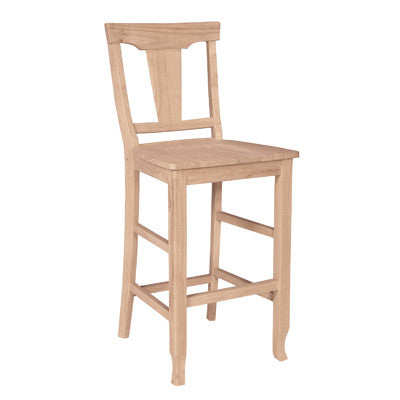 Arlington Unfinished Hardwood Barstool - UnfinishedFurnitureExpo