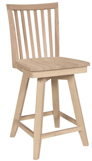 Unfinished Furniture Expo Mission Unfinished Hardwood Swivel Barstool