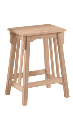 "Unfinished Furniture Expo Mission Counterstool - 24"" High"