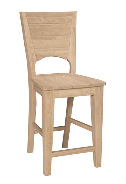 Canyon Unfinished Hardwood Counterstool (Finish Options) - UnfinishedFurnitureExpo