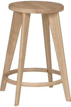 "Unfinished Furniture Expo Unfinished City Counter Stool - 24"" Tall (2-Pack)"
