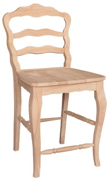 """Versailles"" Unfinished Hardwood Counterstool - UnfinishedFurnitureExpo"