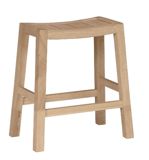 "Hardwood Ranch Counter Stool - 24"" Tall"