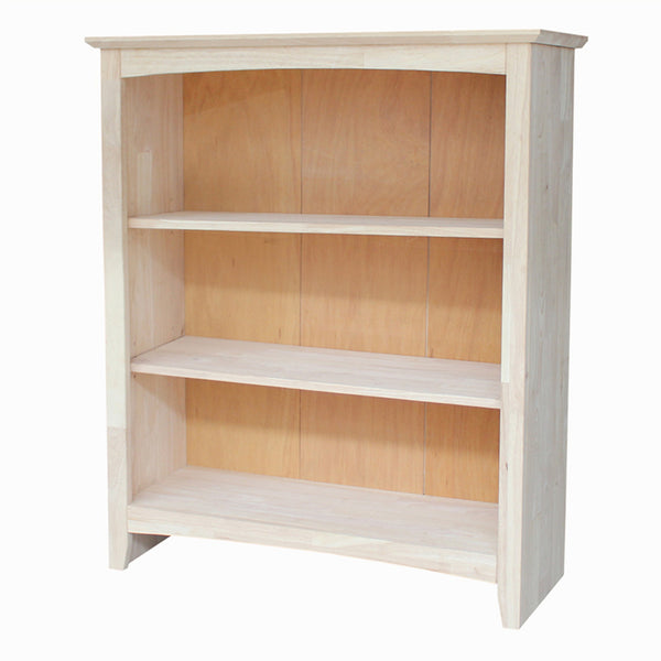 "Shaker Hardwood Bookcase - 32"" Wide x 36"" Tall (Finished Options) - UnfinishedFurnitureExpo"