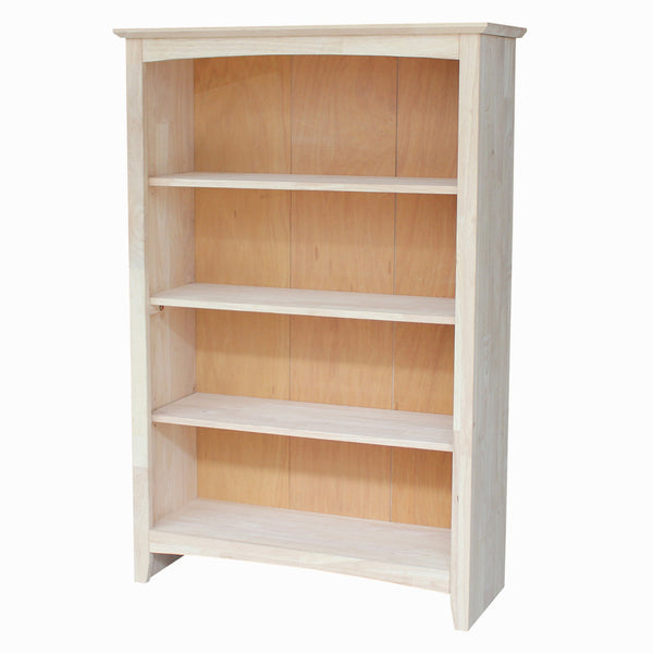 Unfinished Shaker Hardwood Bookcase