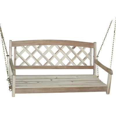 Unfinished X-Back 2-Person Porch Swing - UnfinishedFurnitureExpo
