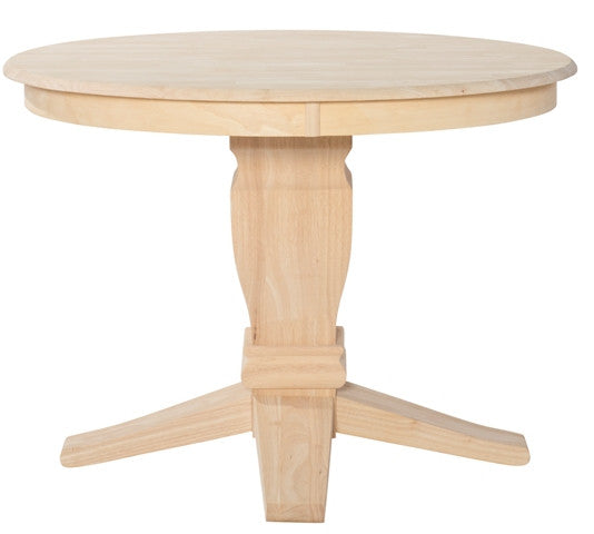 "Unfinished Furniture Expo Unfinished Solid Hardwood 42"" Round Dining Table"