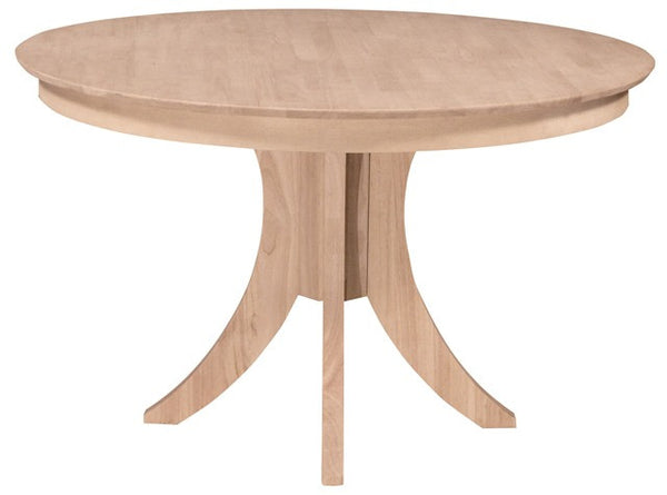 Sienna Unfinished 48 Round Hardwood Dining Table 2 Heights