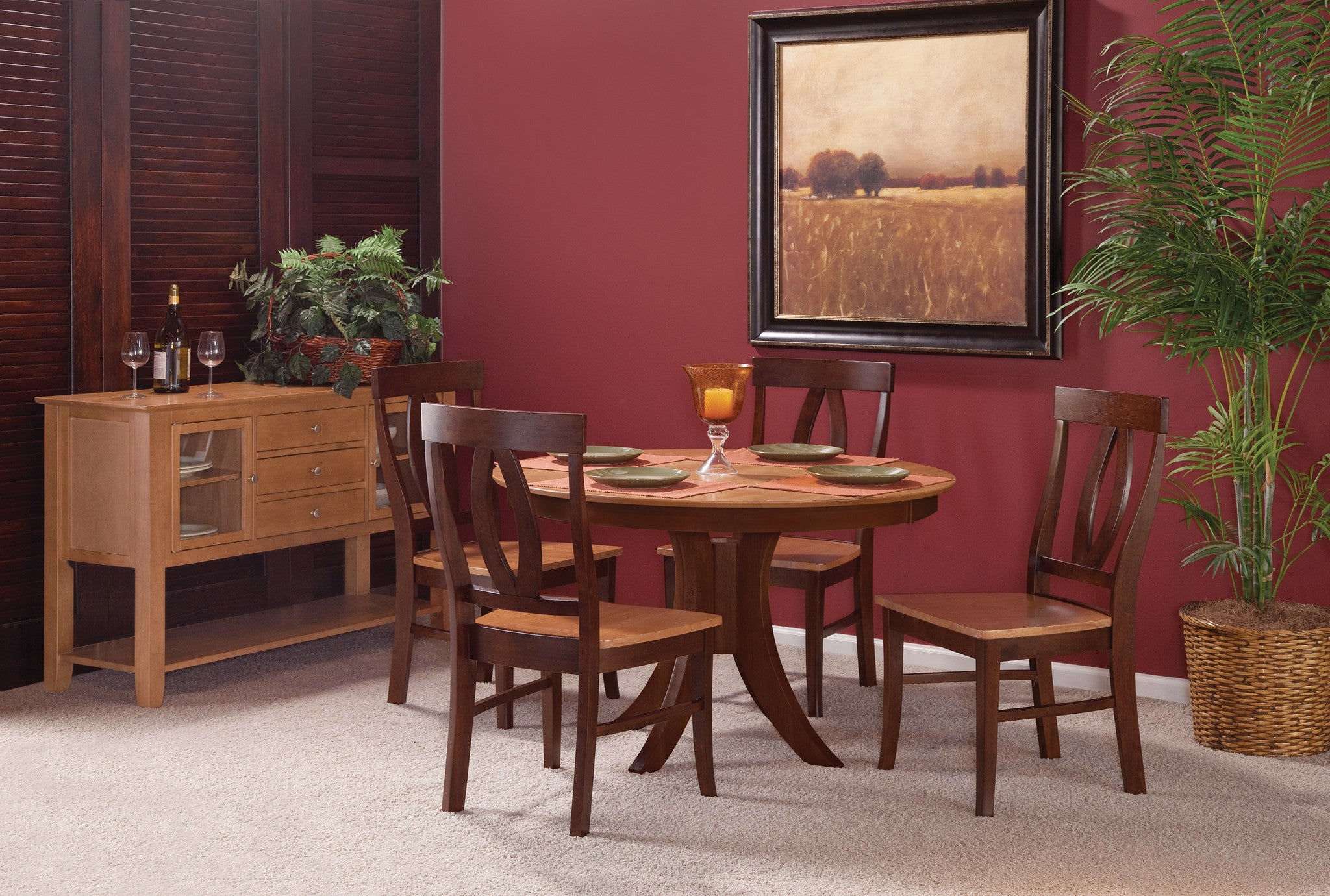 """Sienna 48"""" Round Hardwood Dining Table Free Shipping T 148RT"""