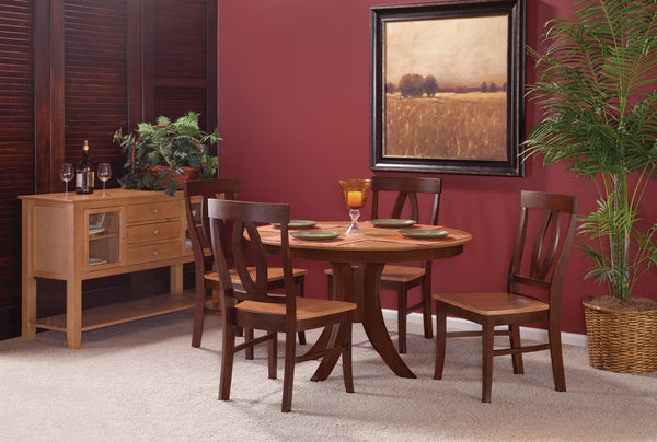 "Sienna 48"" Round Hardwood Dining Table (Choose Height & Finish) - UnfinishedFurnitureExpo"