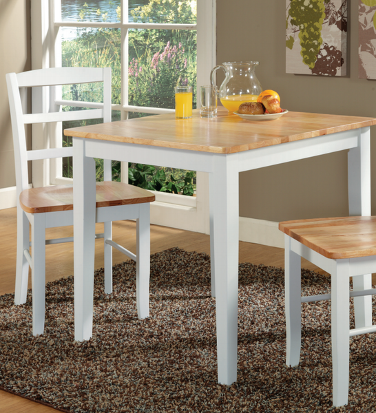 "Shaker Hardwood Dining Table - 30"" x 30"" (Choose Height and Finish)"