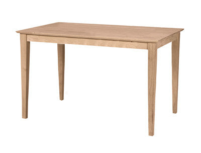 "Hardwood Gathering Table 30"" x 42"" (Choose Height and Style) - UnfinishedFurnitureExpo"