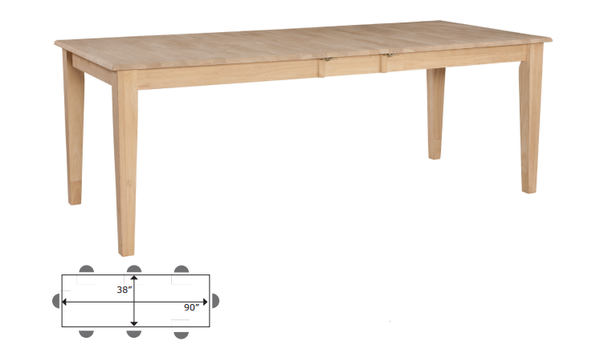 "Shaker Hardwood Table - 38"" x 72"""
