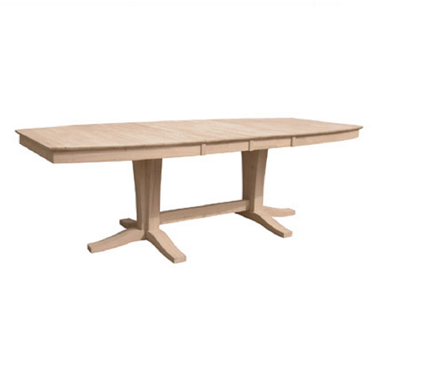 "Milano Hardwood Table and Base - 96"" - UnfinishedFurnitureExpo"