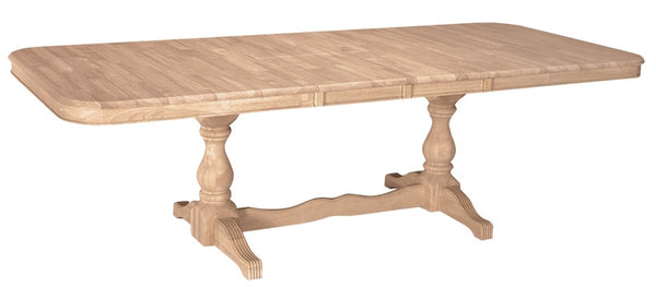 Double Butterfly Extension Hardwood Table - UnfinishedFurnitureExpo