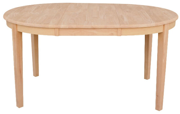 "42"" Round Hardwood Dining Table with Butterfly Leaf (Extends to 60"") - UnfinishedFurnitureExpo"