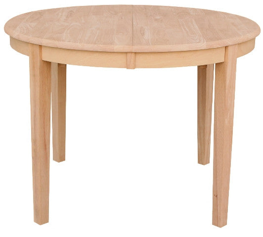 42 Round Hardwood Table With Leaf Up To 60 Free Shipping T 42rx