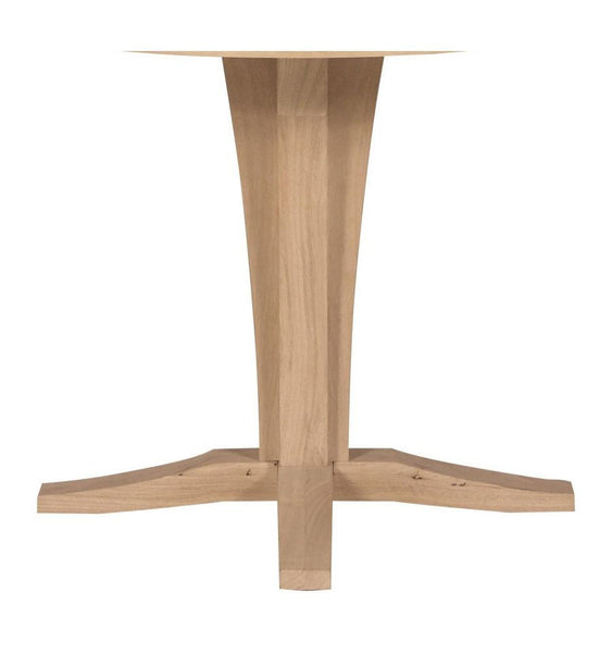 Unfinished Furniture Expo Verona Hardwood Pub Pedestal