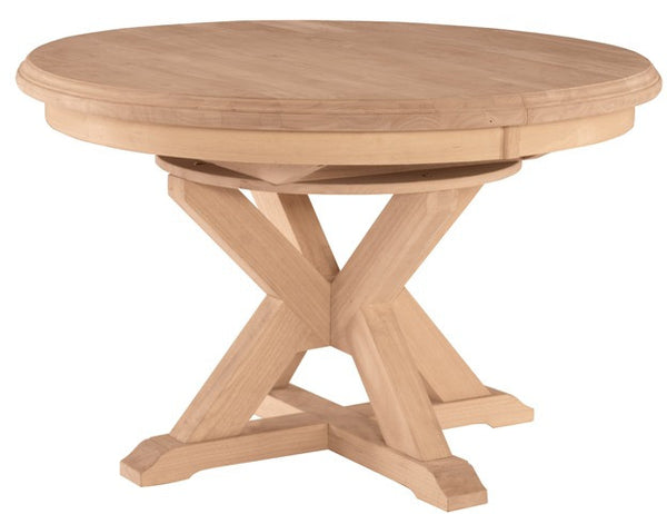 """Canyon"" Unfinished Hardwood Oval Extension Table - UnfinishedFurnitureExpo"