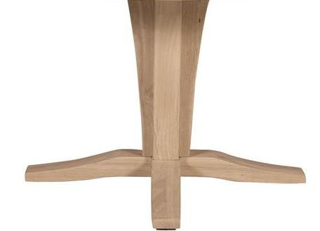 Verona Contemporary Hardwood Dining Table Pedestal - UnfinishedFurnitureExpo