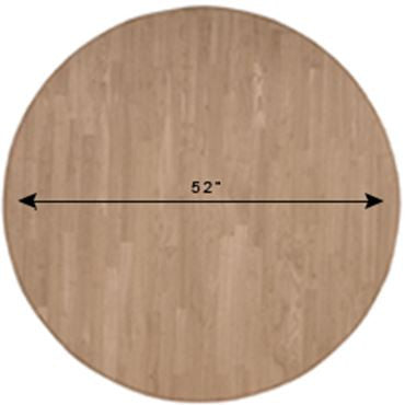 "Round Hardwood Table Top - 52"" - UnfinishedFurnitureExpo"