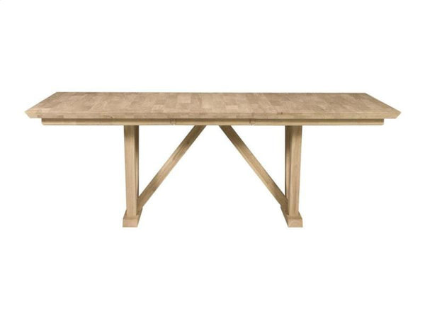 "Athena Hardwood Table - 84"" - UnfinishedFurnitureExpo"